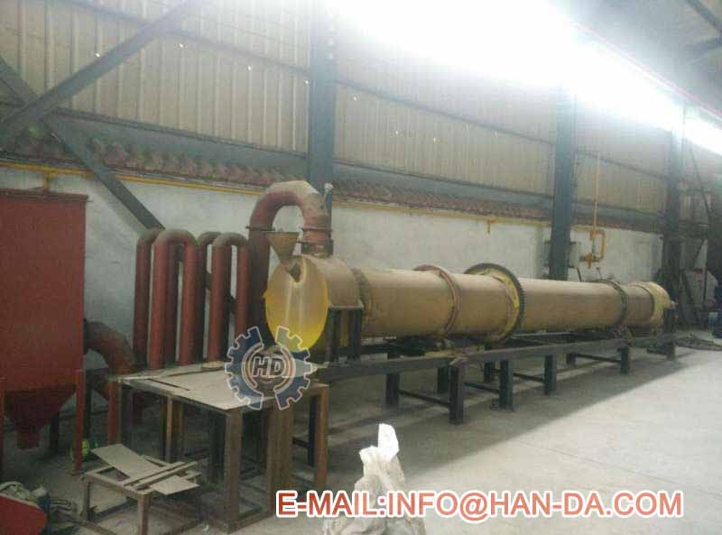 rotary kiln system for calcination experiment